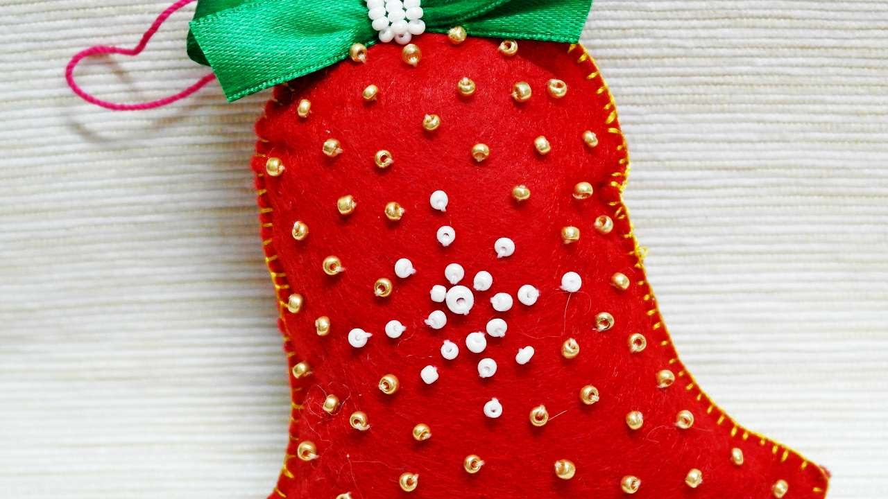 Best How To Make A Felt Christmas Bell Decoration Diy Crafts This Month
