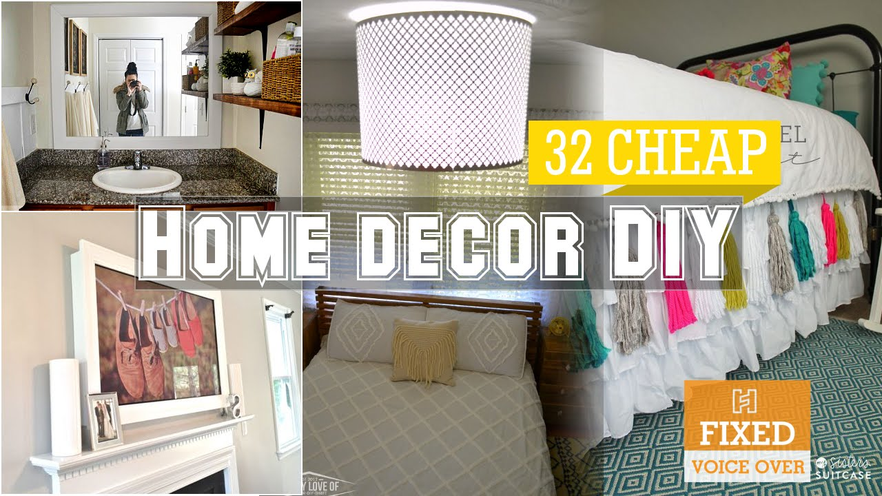 Best 32 Cheap Home Decor Diy Ideas New V O Youtube This Month