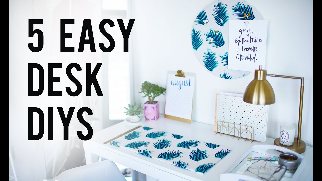 Best 5 Easy Diy Desk Decor Organization Ideas Ann Le Youtube This Month