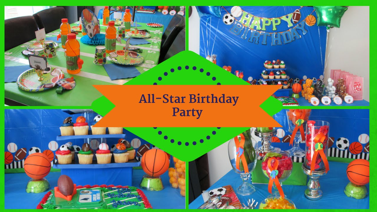 Best Sports Allstar Birthday Party Dollar Tree Inspired Youtube This Month