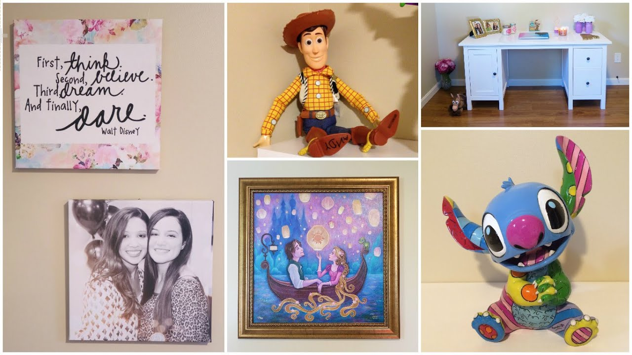 Best My Disney Themed Office Room Tour Updated Youtube This Month