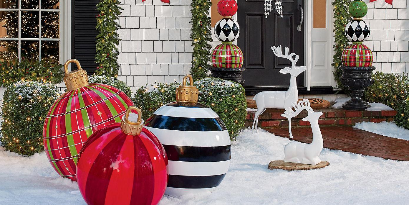 Best Large Outdoor Christmas Ornaments Giant Holiday Ornament This Month