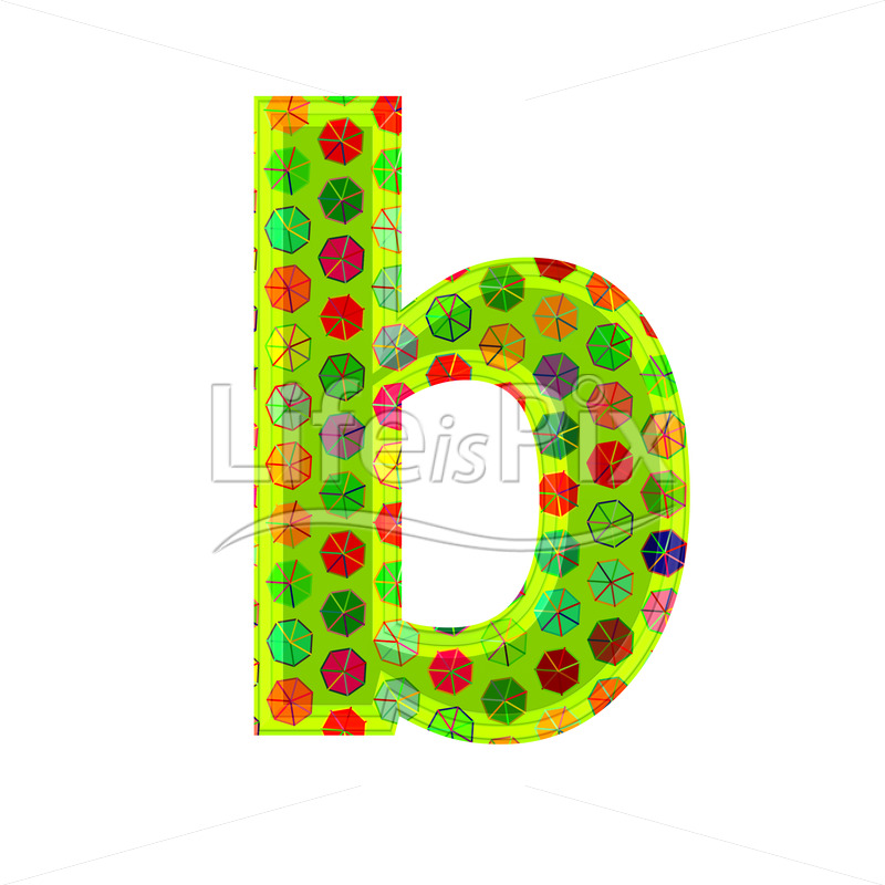 Best 3D Letter With Decorative Texture B Royalty Free Stock This Month