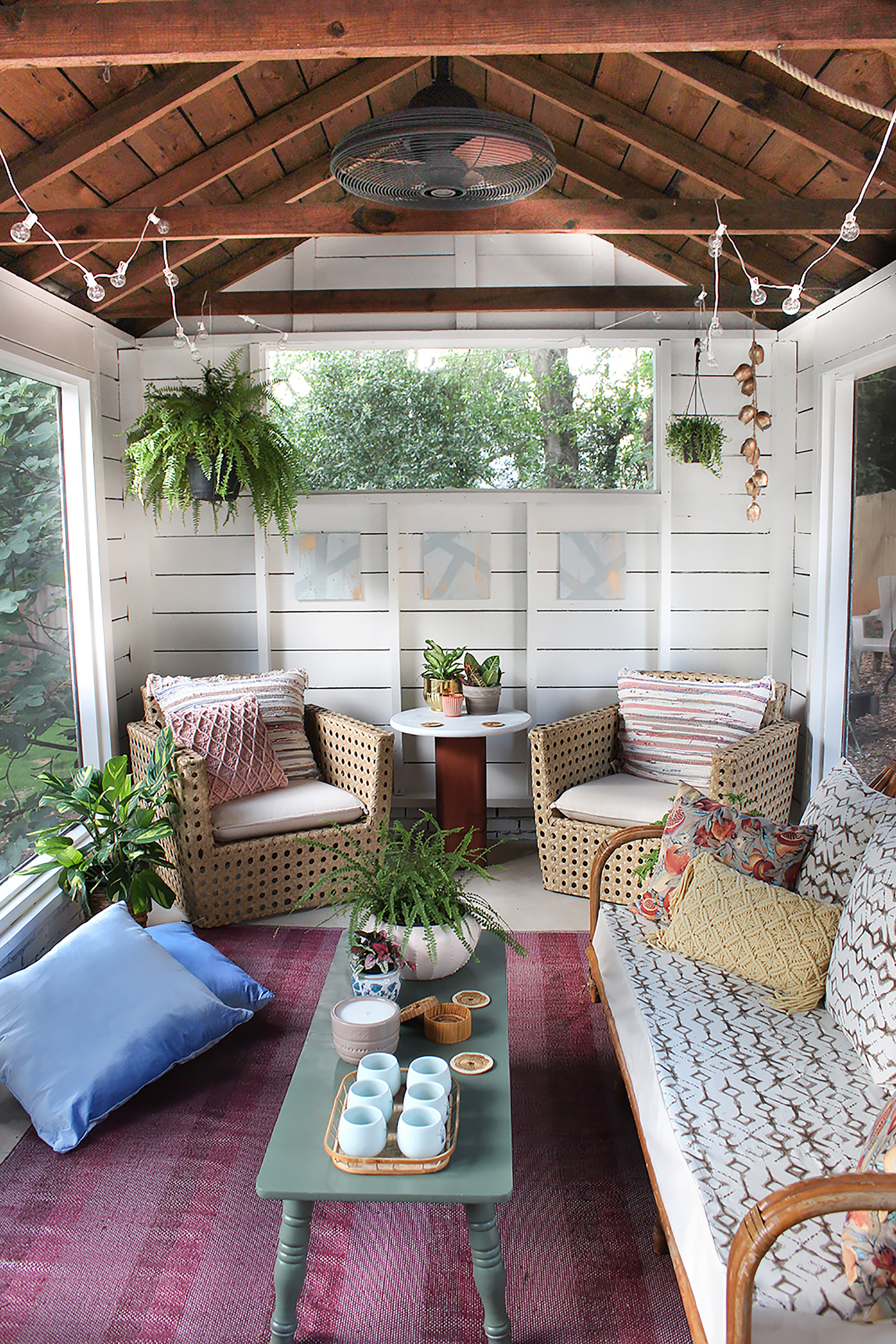 Best Shed Turned Boho Screened Porch Thewhitebuffalostylingco Com This Month