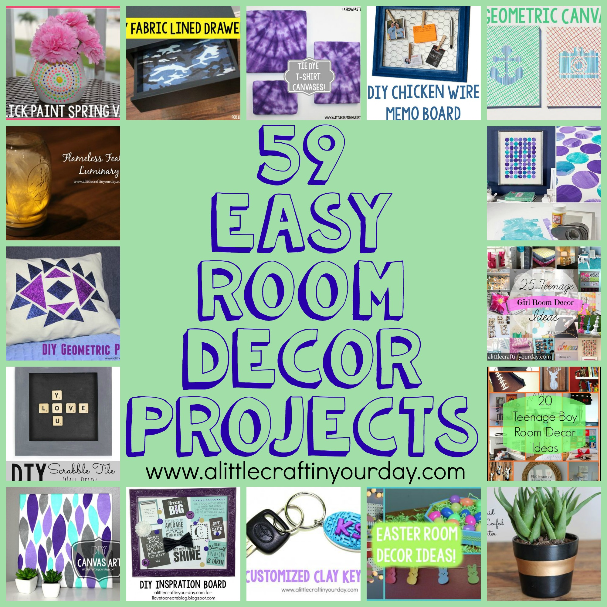 Best 59 Easy Diy Room Decor Projects A Little Craft In Your Day This Month