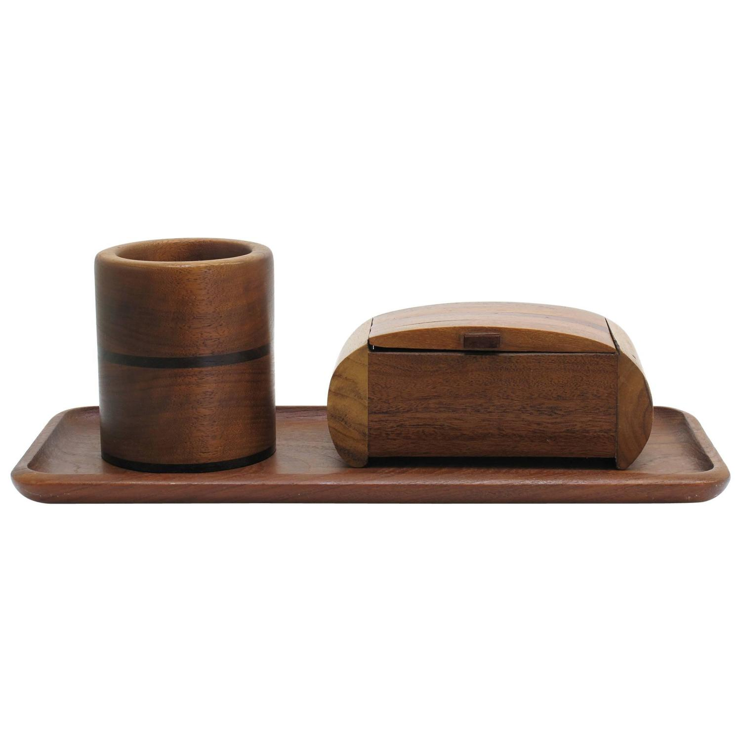 Best Collection Of Solid Wood Desk Accessories At 1Stdibs This Month