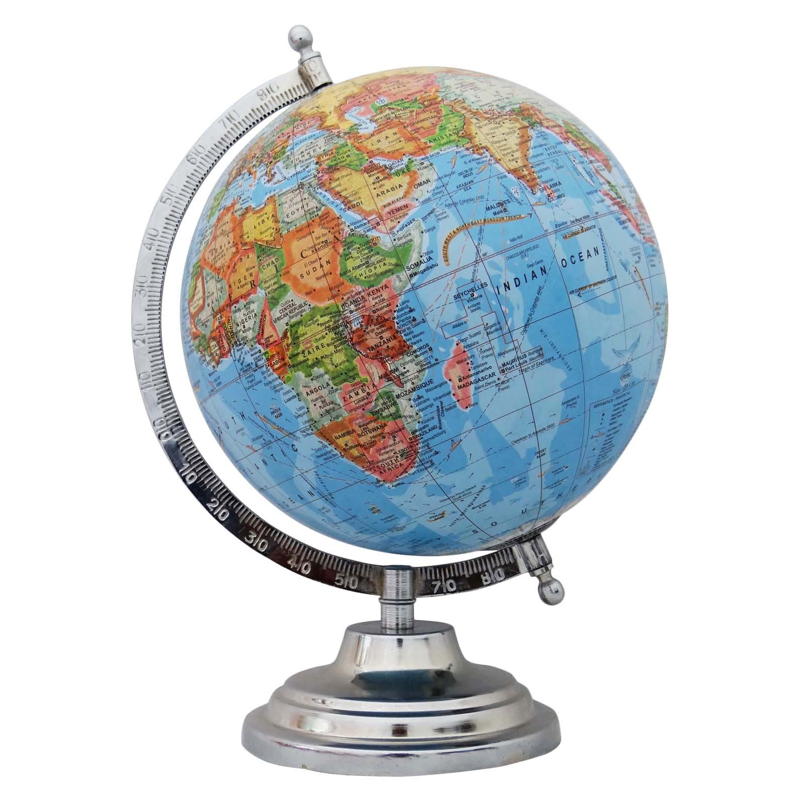 Best Decorative Rotating Blue Ocean Globe World Geography Earth This Month