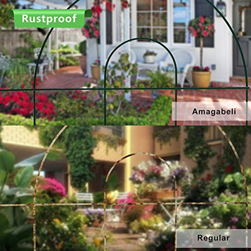 Best Amagabeli Decorative Garden Fence 18 In X 50 Ft Rustproof This Month