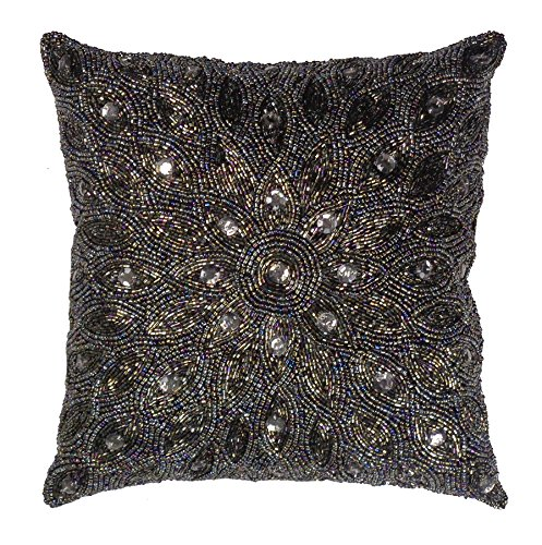 Best Cotton Craft Throw Pillows Peacock Hand Beaded This Month