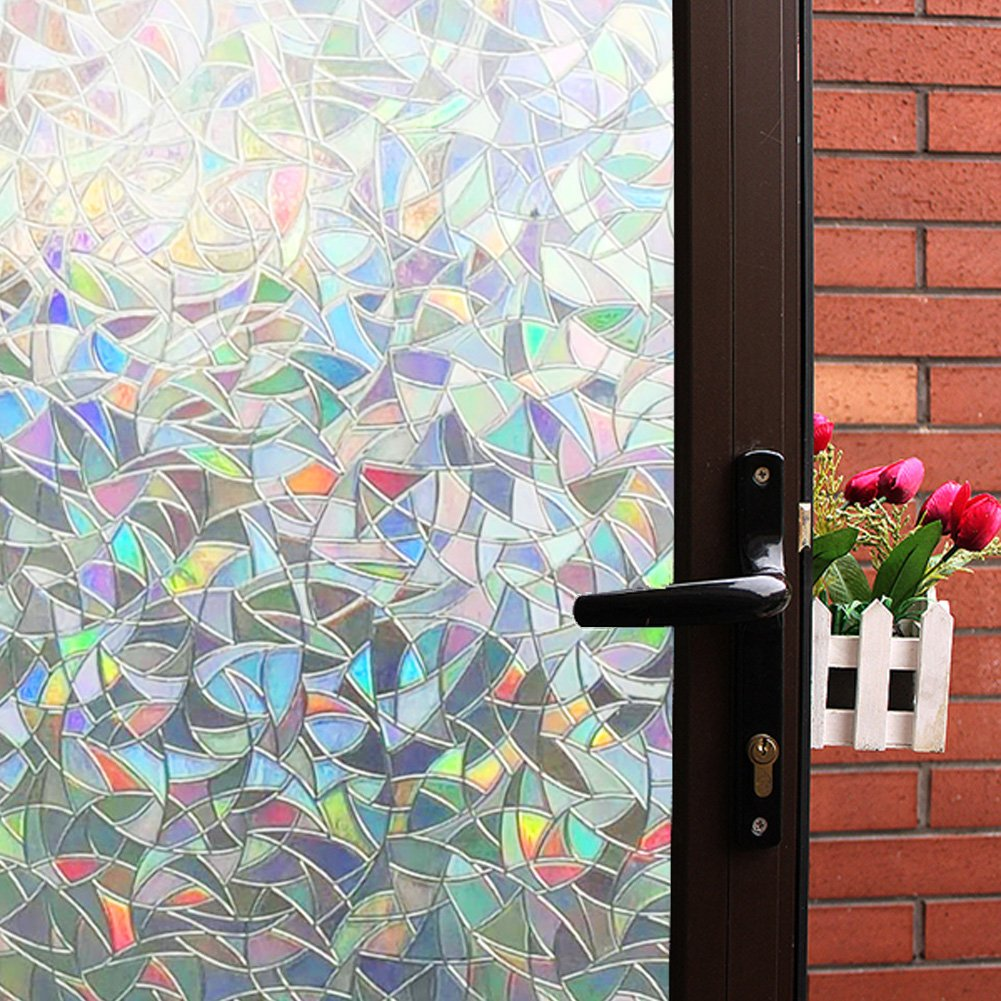 Best 3D Decorative Window Film Clear Stained Glass Rainbow This Month