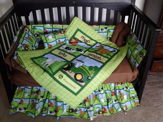 Best New Custom Made John Deere Baby Crib Bedding Set With Adorable This Month