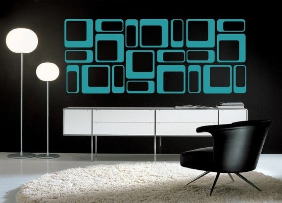Best 50S Art Deco Home Decor Wall Decal Geometric Design This Month