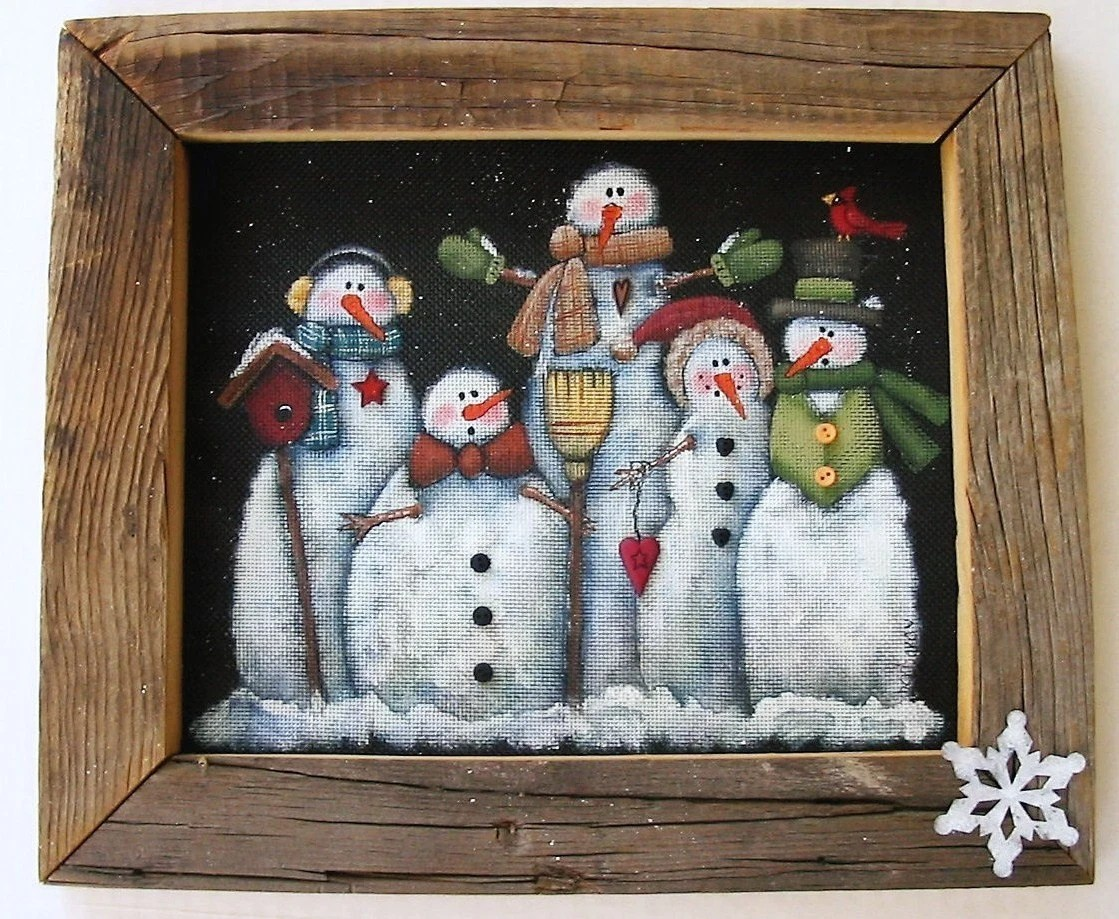 Best Tole Painting Pattern Glacier Men Or Snowmen Group Of This Month