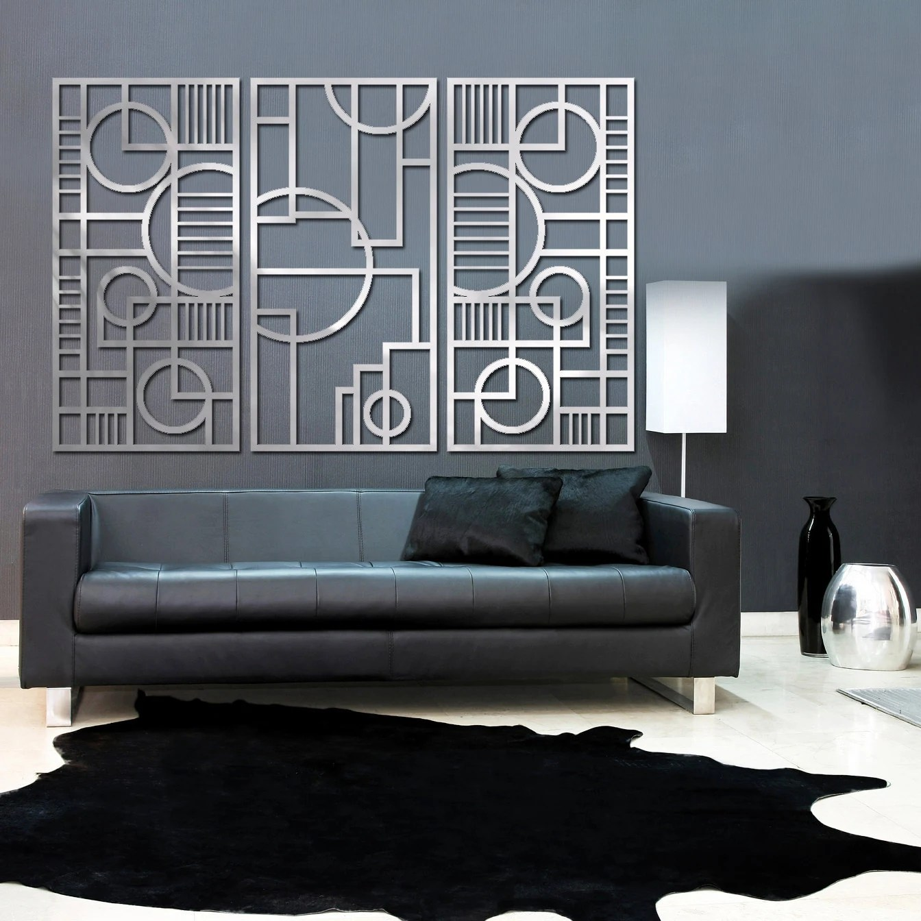 Best Deco Panel Trio 23 X 46 In Brushed Aluminum Free Shipping This Month