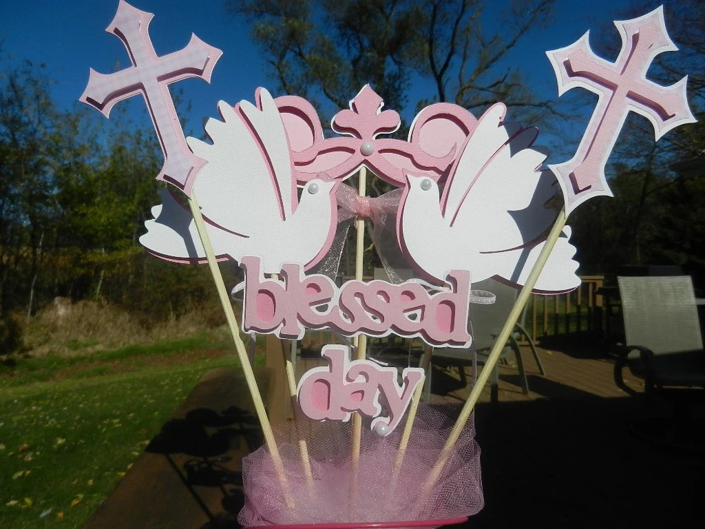 Best Baptism Christening Table Decoration Centerpiece This Month
