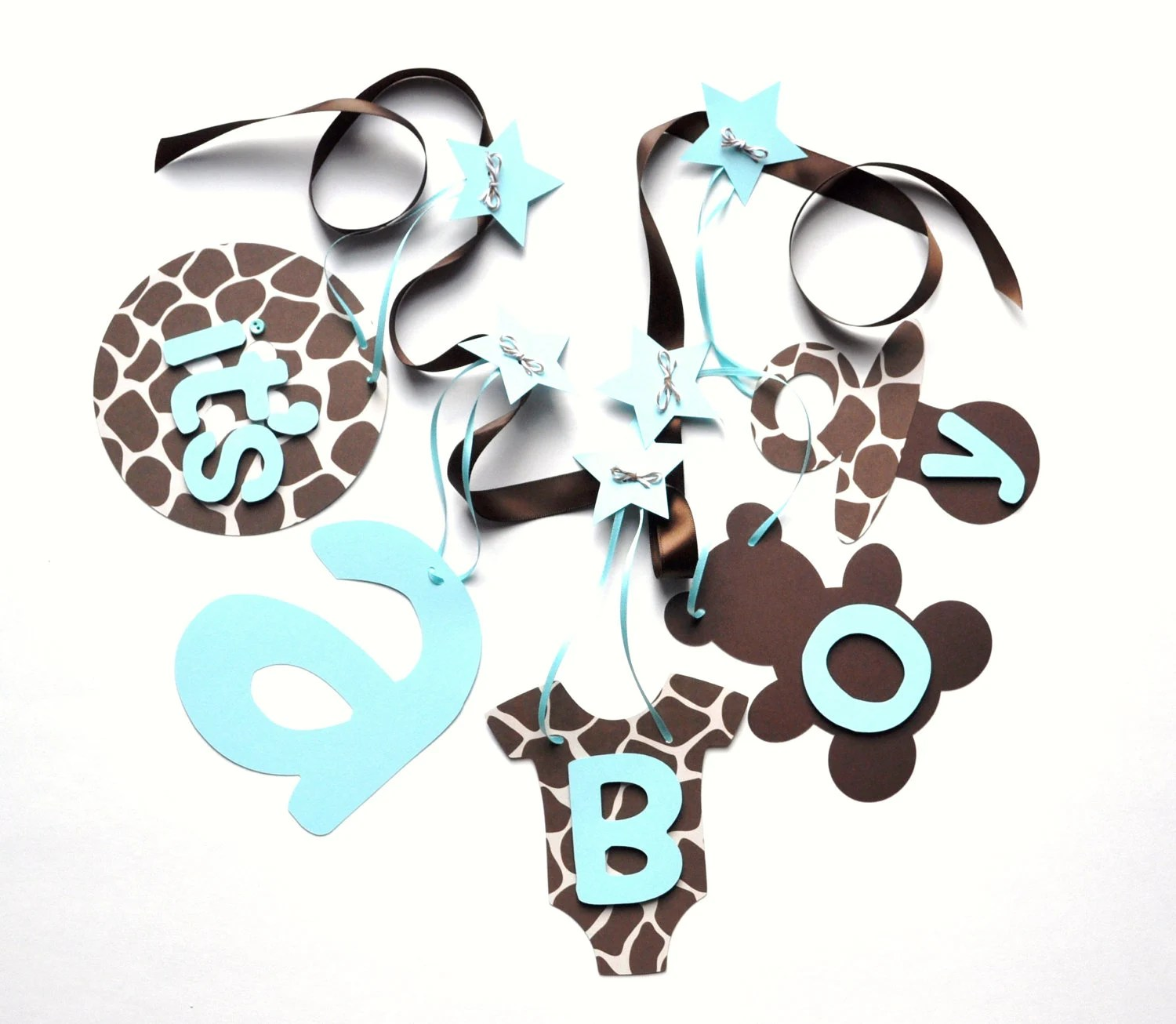 Best Giraffe Baby Shower Decorations Blue And Brown By This Month