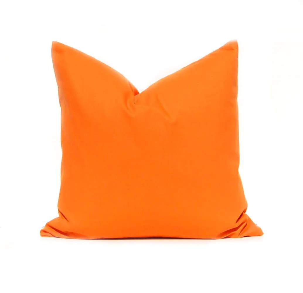 Best Orange Pillow Cover Solid Orange Throw Pillow Cover Kids This Month