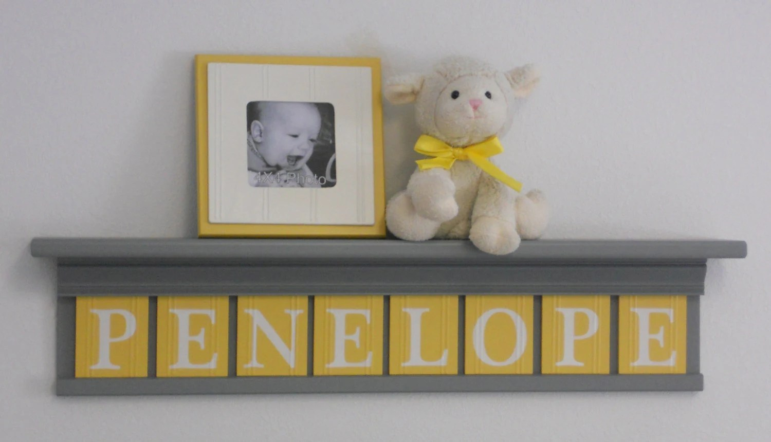 Best Baby Girl Name Sign Nursery Decor 30 Gray Shelf With 8 This Month