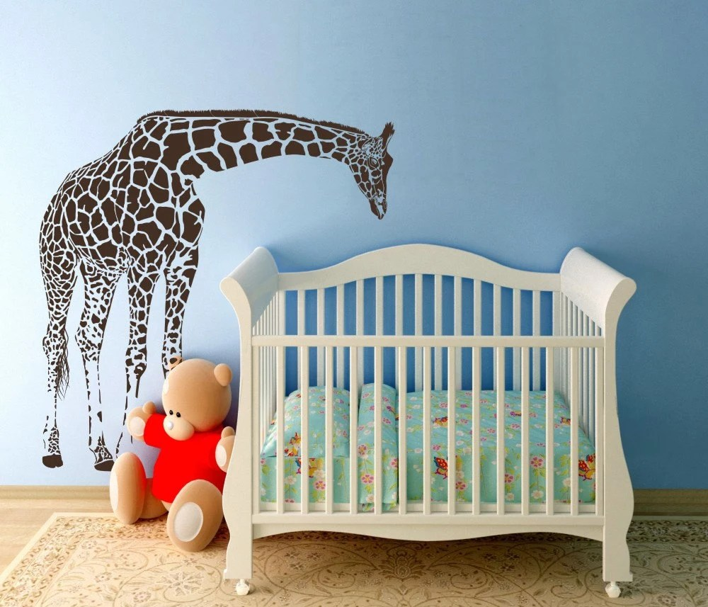 Best Sale Large Giraffe Baby Nursery Wall Decals By This Month