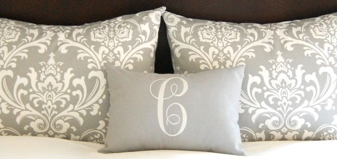 Best Standard Pillow Shams Bed Shams Throw Pillow Covers Gray This Month