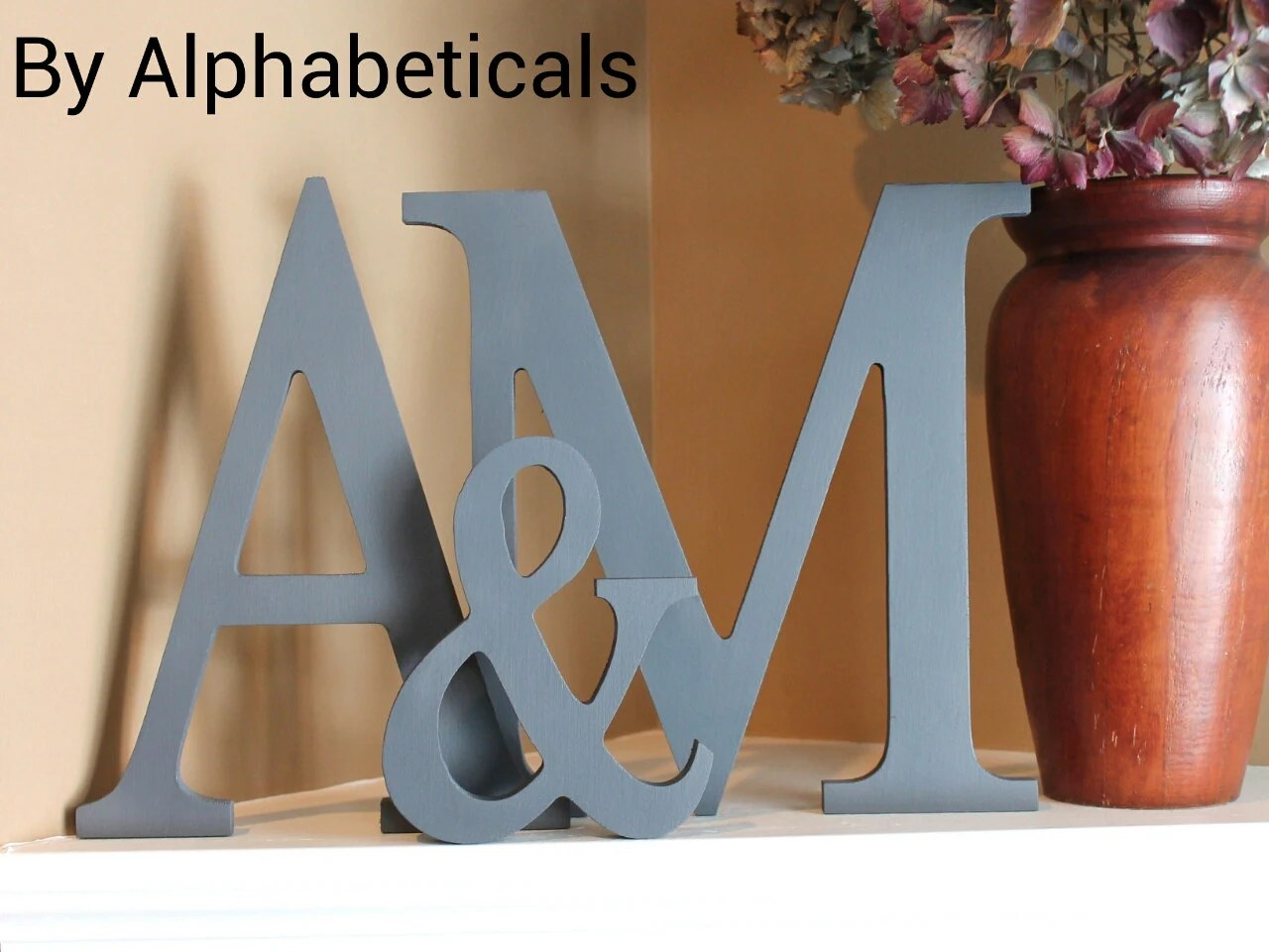 Best Decorative Wall Letters Large Wooden Monogram By Alphabeticals This Month
