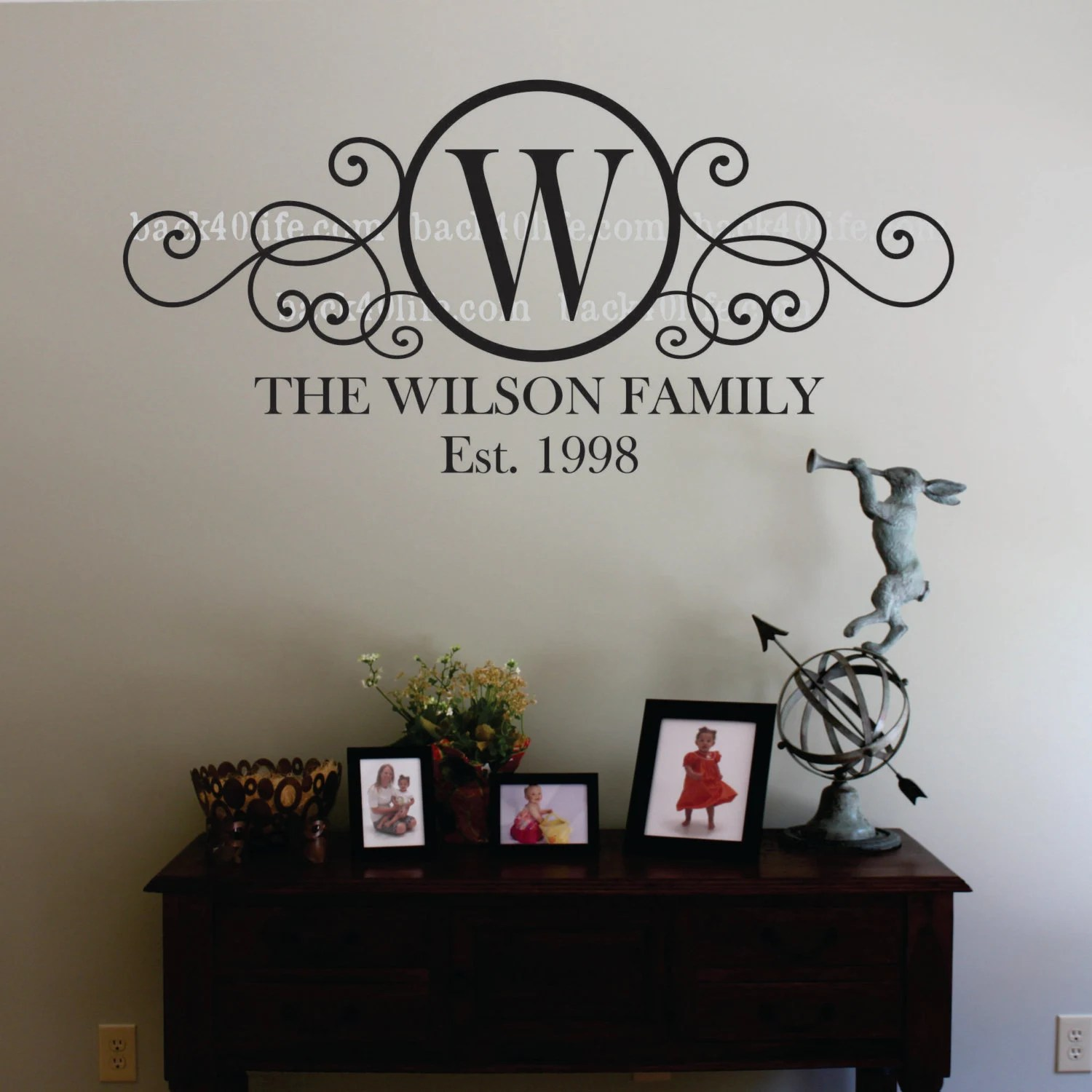 Best Swirly Circle Family Monogram Vinyl Wall Decal M 010 By This Month