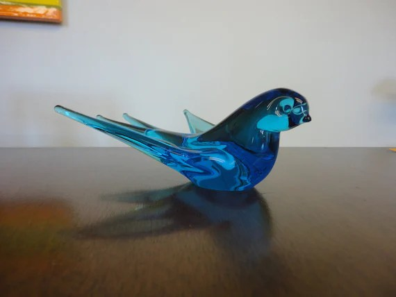 Best Vintage Glass Blue Bird Home Decor This Month