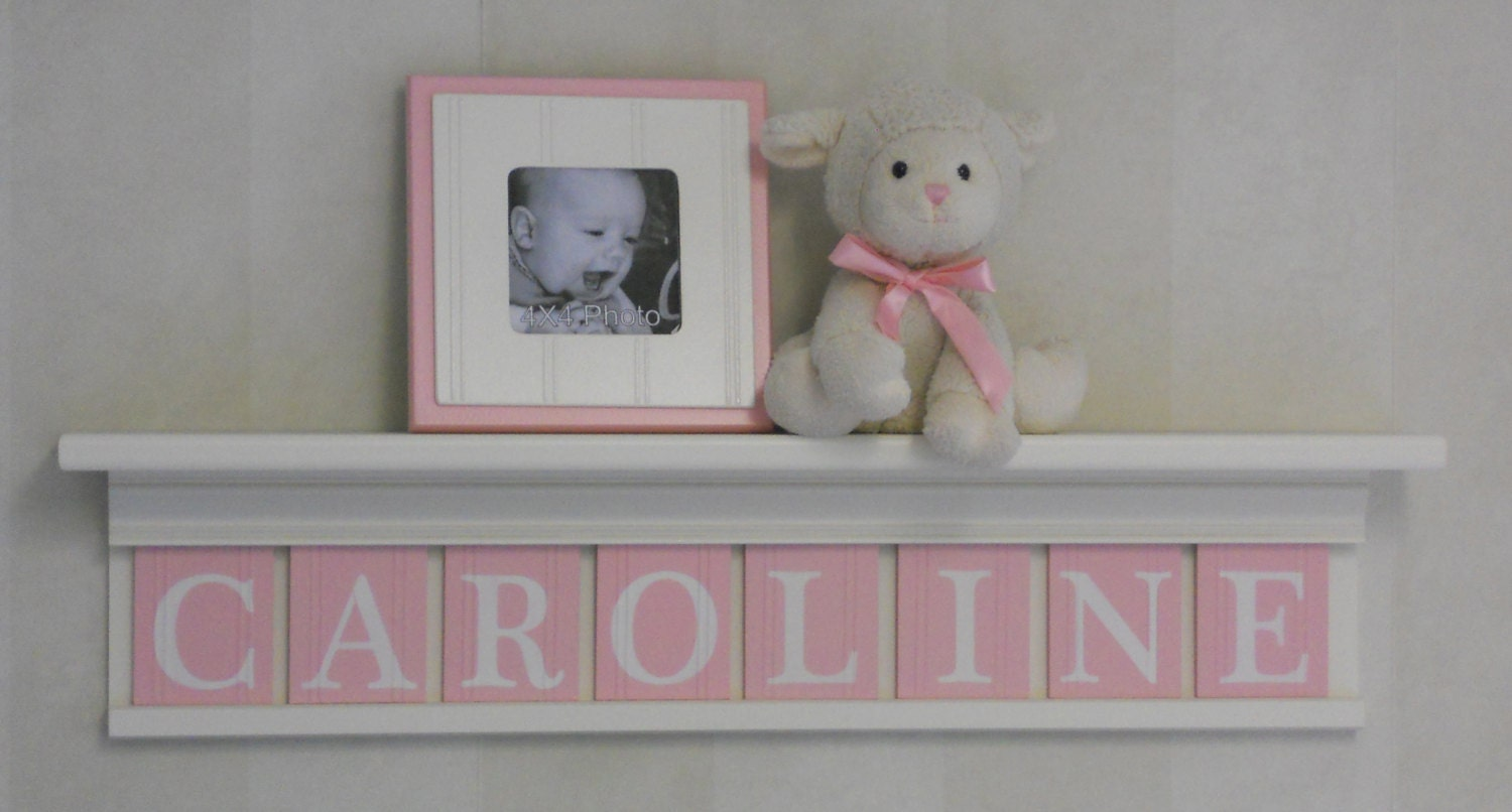 Best Baby Girl Wooden Name Signs Nursery Decor Shelf White Or Off This Month