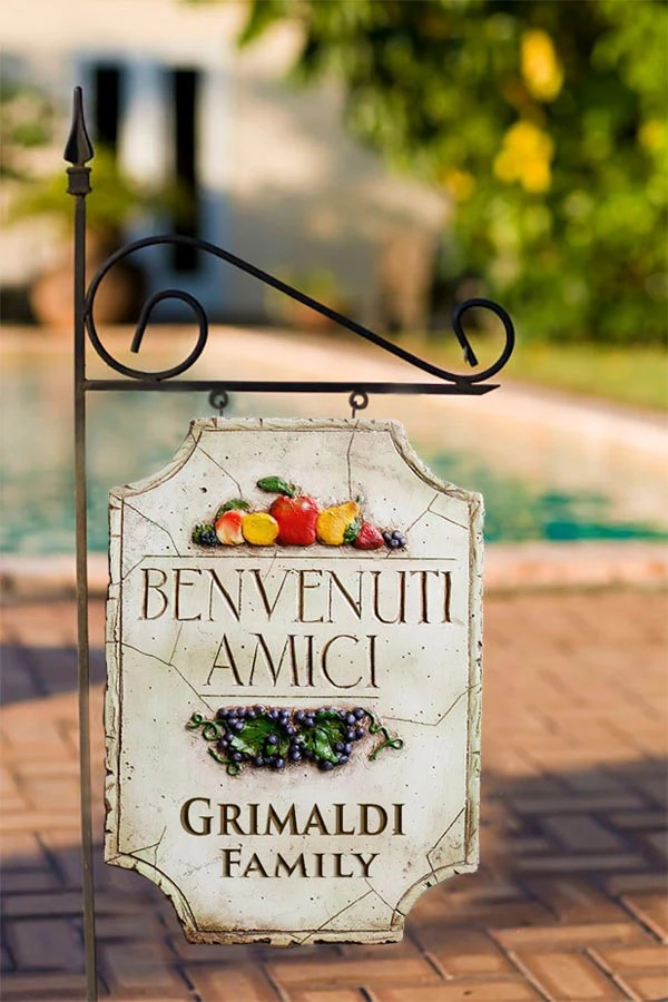 Best Decorative Personalized Yard Sign With Italian Theme This Month