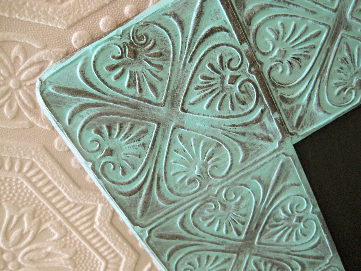 Best Tin Ceiling Tile Mirror Decorative Wall Mirror Ornate Bathroom This Month