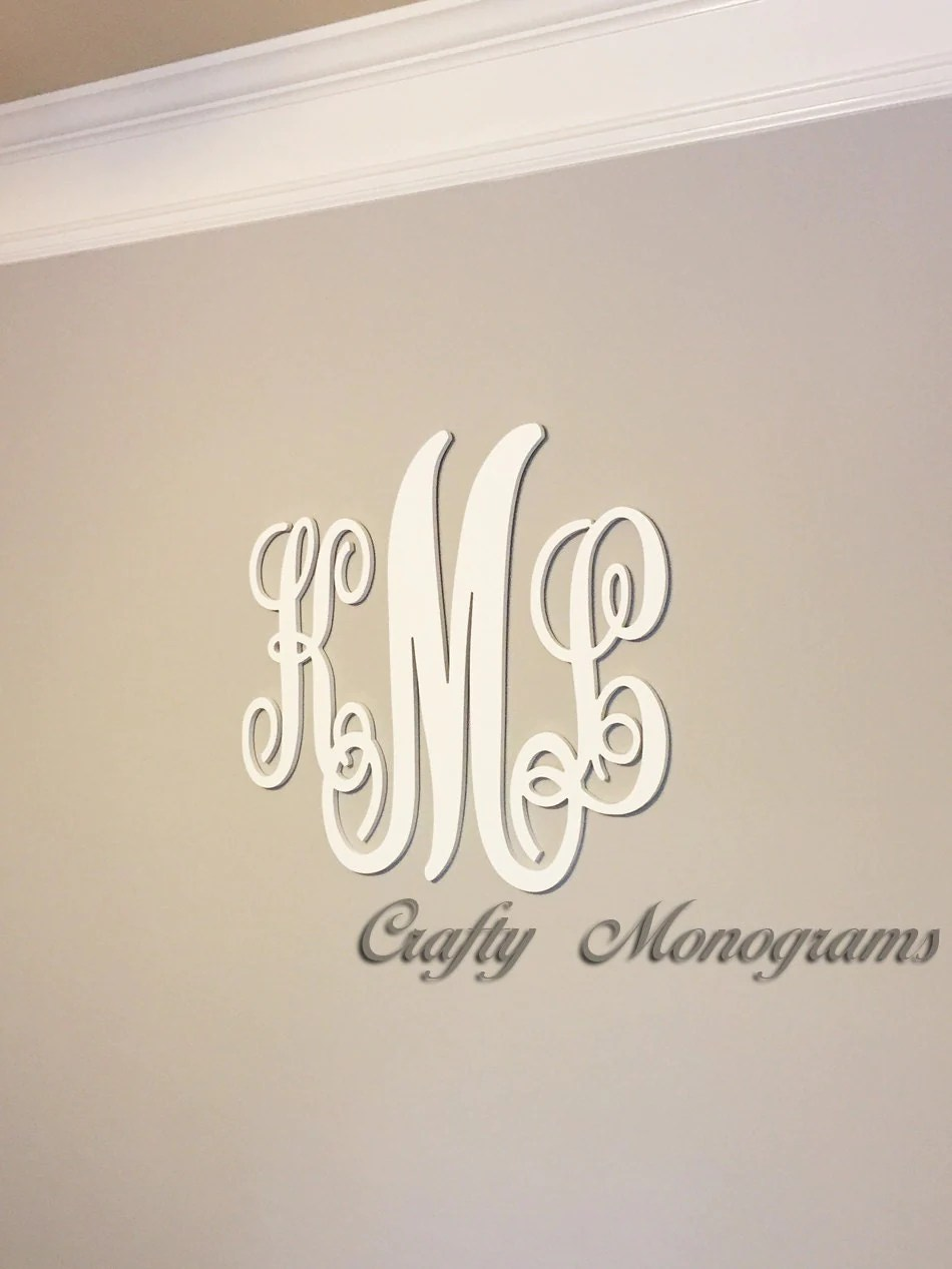 Best 24 X 26 Nursery Decor Wooden Monogram Wall Art Large Wood This Month