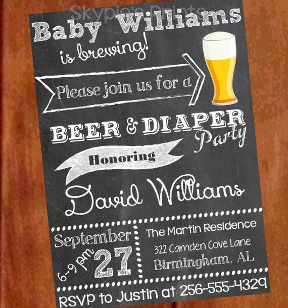 Best Personalized Printable Beer And Diaper Party Man By This Month