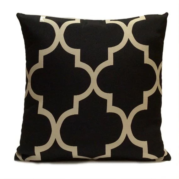 Best Black And Beige Pillow Throw Pillow Cover Decorative Pillow This Month