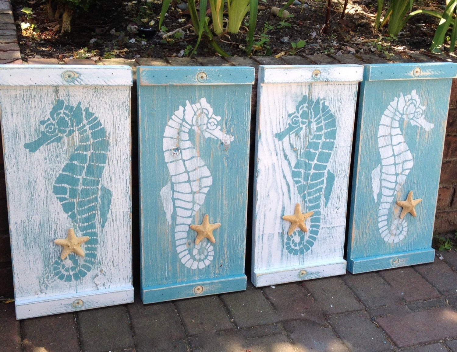 Best Seahorse Sign Wall Art Wood Wooden Beach House Decor One This Month