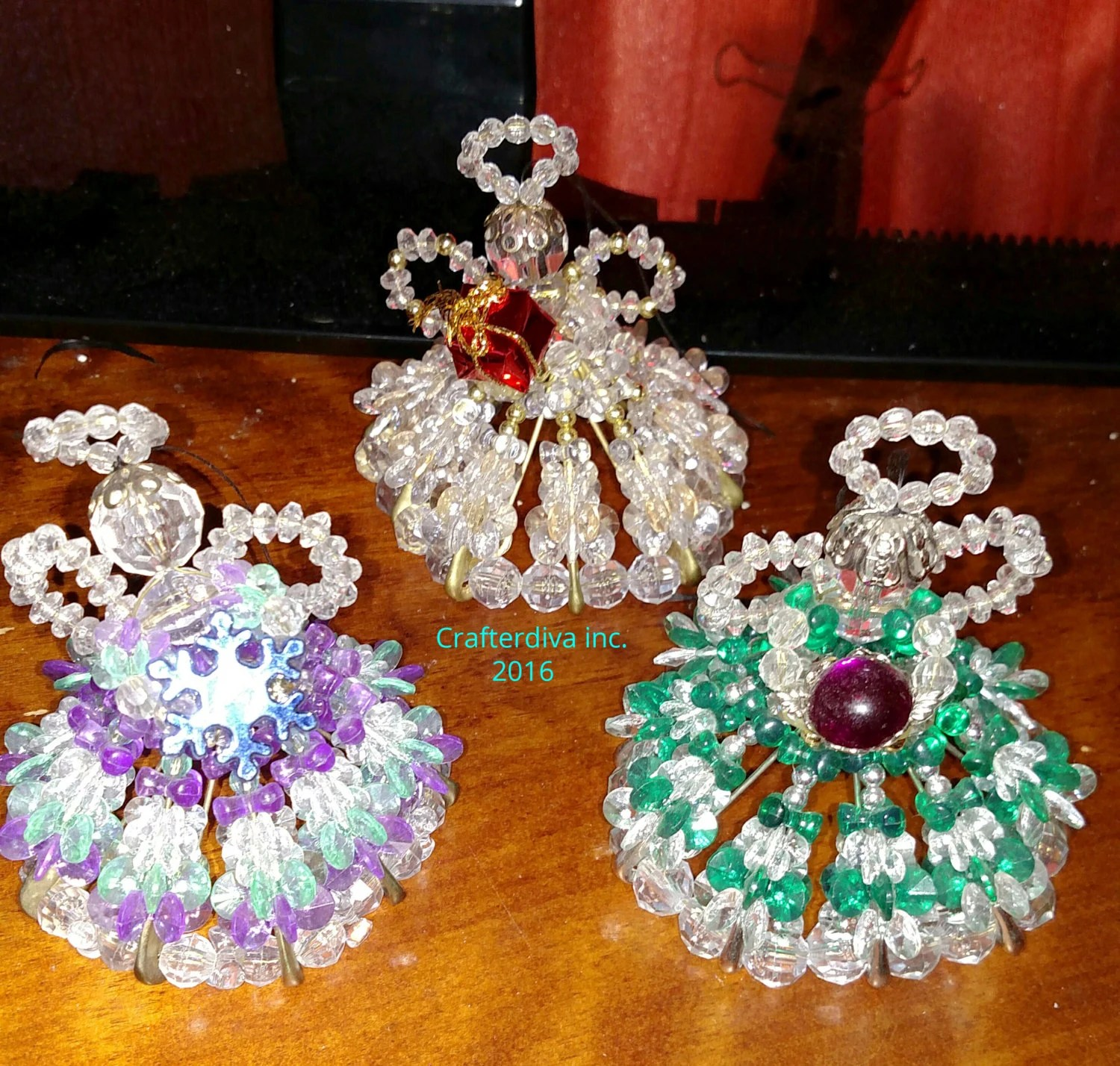 Best Beaded Safety Pin Angel Christmas Ornaments Angels This Month