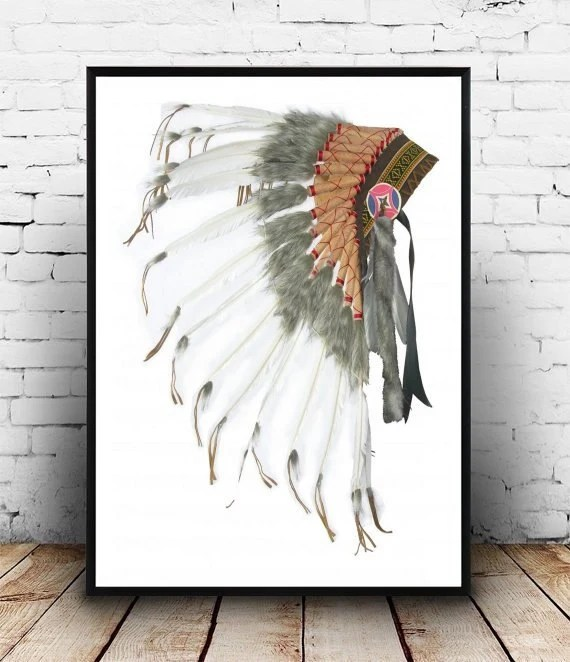 Best Native American Headdress Printable Art Tribal By This Month