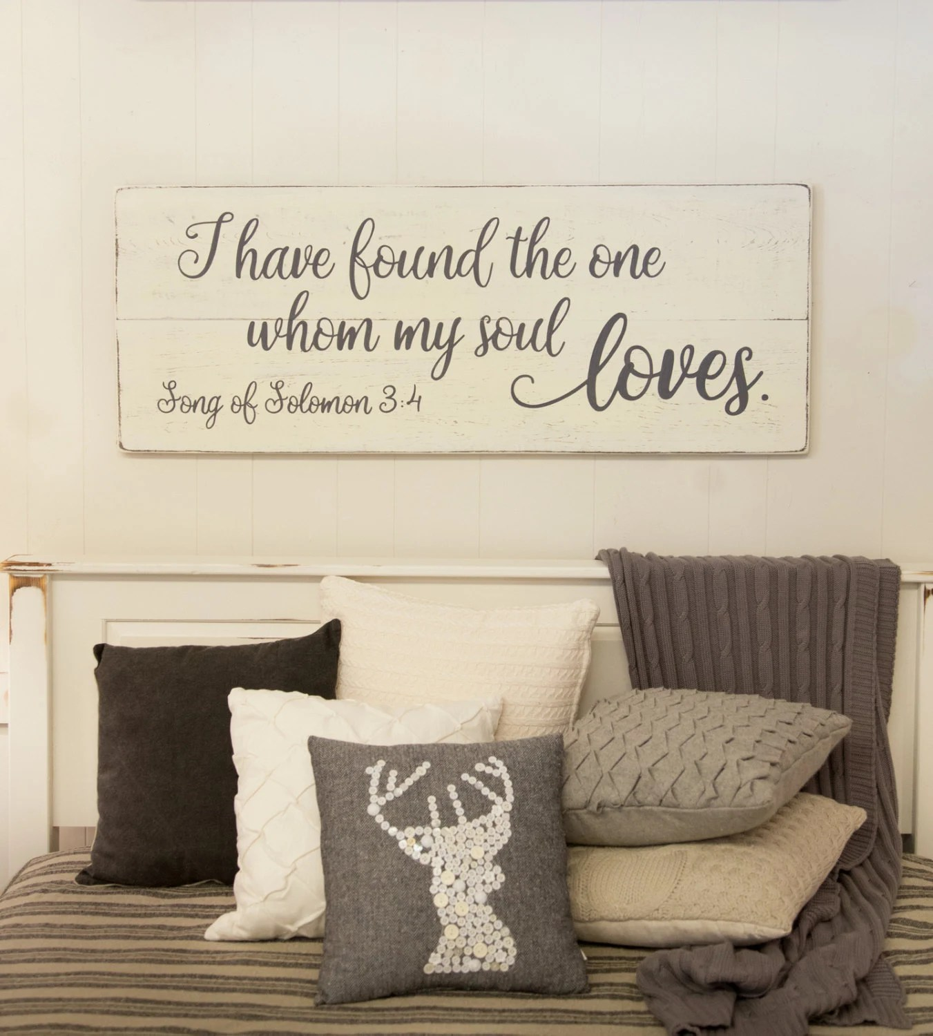 Best Bedroom Wall Decor Wood Sign Song Of Solomon 3 4 I Have This Month