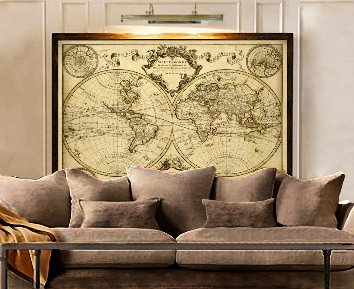 Best 1720 Old World Map Map Art Historic Map Antique Style This Month