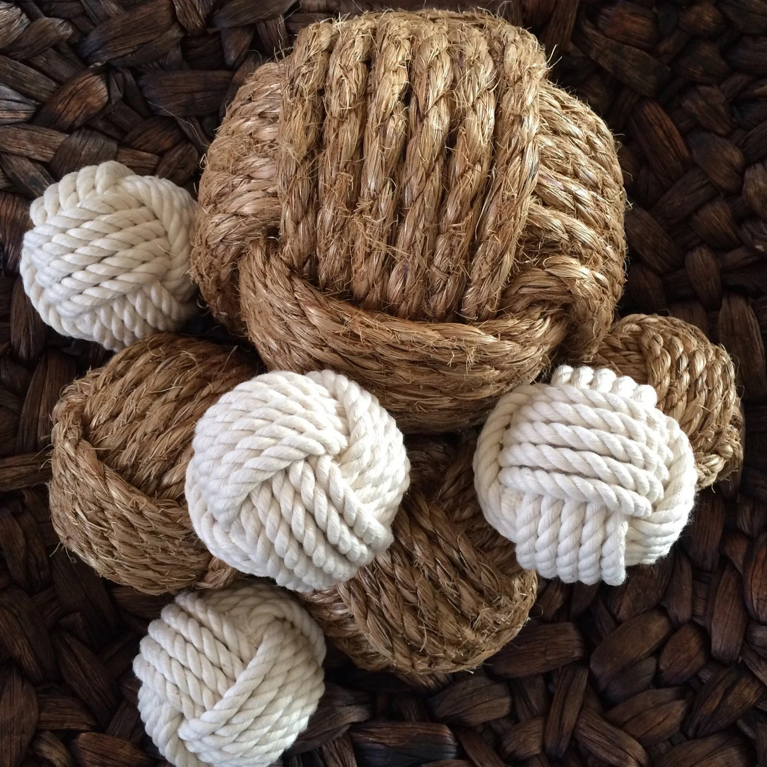 Best Nautical Rope Knot B*Lls Set Of 8 Neutral Bowl Fillers This Month