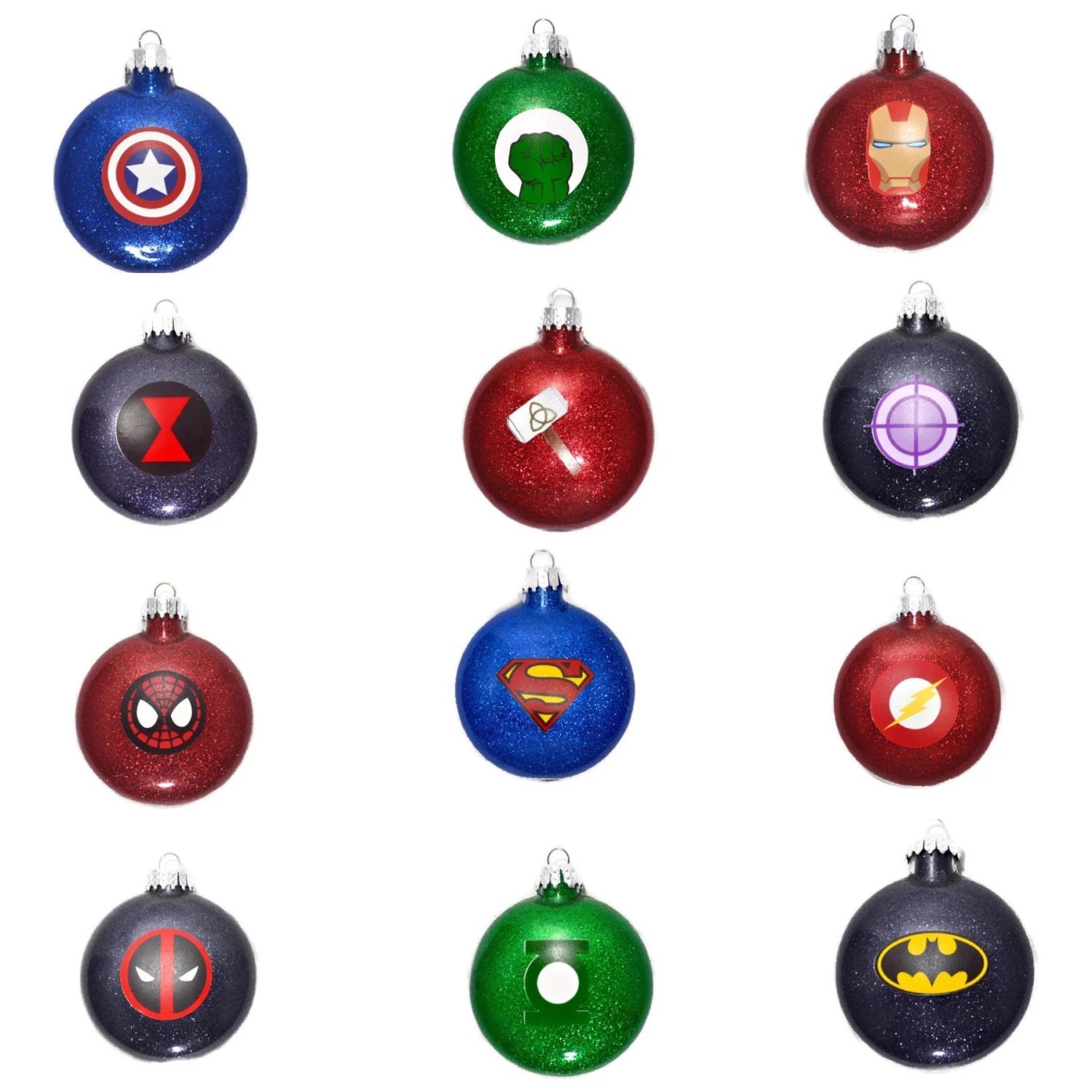 Best Super Hero Ornaments Super Hero Glitter Ornaments Avengers This Month