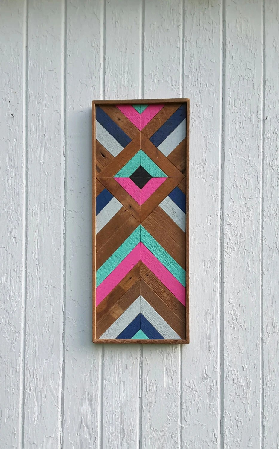 Best Reclaimed Wood Wall Art Lath Chevron Wall Decor Diamond This Month