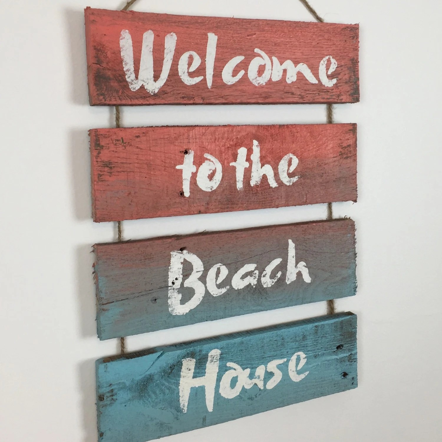 Best Cottage Chic Beach Decor Welcome Sign Wall Art Nautical This Month