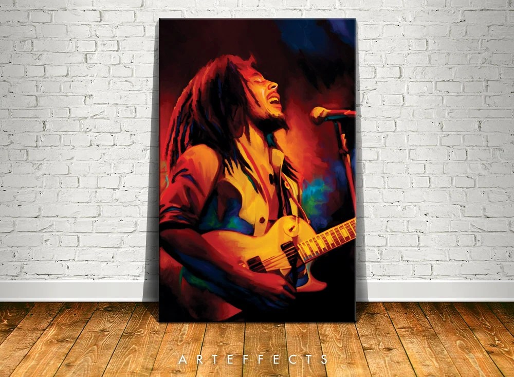 Best Bob Marley Canvas High Quality Giclee Print Wall Decor Art This Month