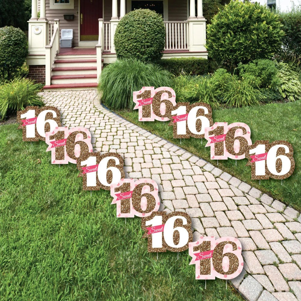 Best Sweet 16 Lawn Decorations Outdoor Birthday Party Yard This Month
