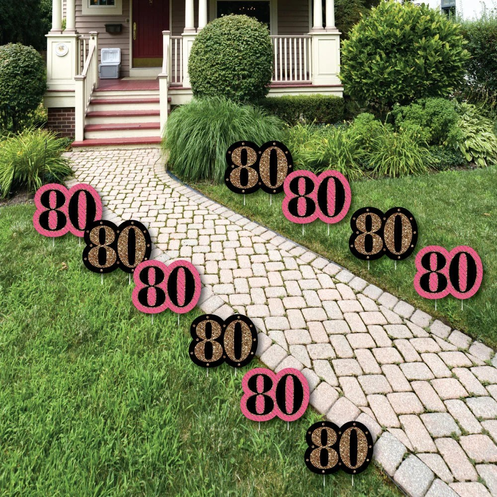 Best 80Th Birthday Lawn Decorations Outdoor Birthday Party This Month