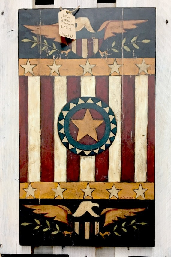 Best Home Decor Wall Art 11X20 Americana Emblem Print On This Month