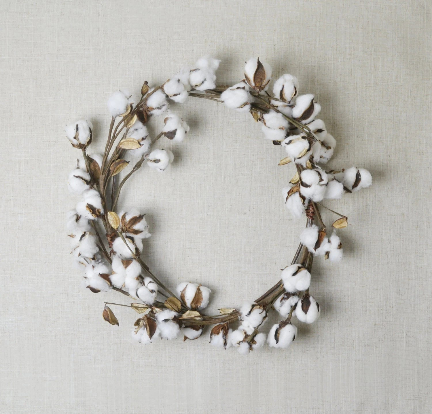 Best Cotton Wreath Home Decor Farmhouse Wreath Fall Wreath This Month