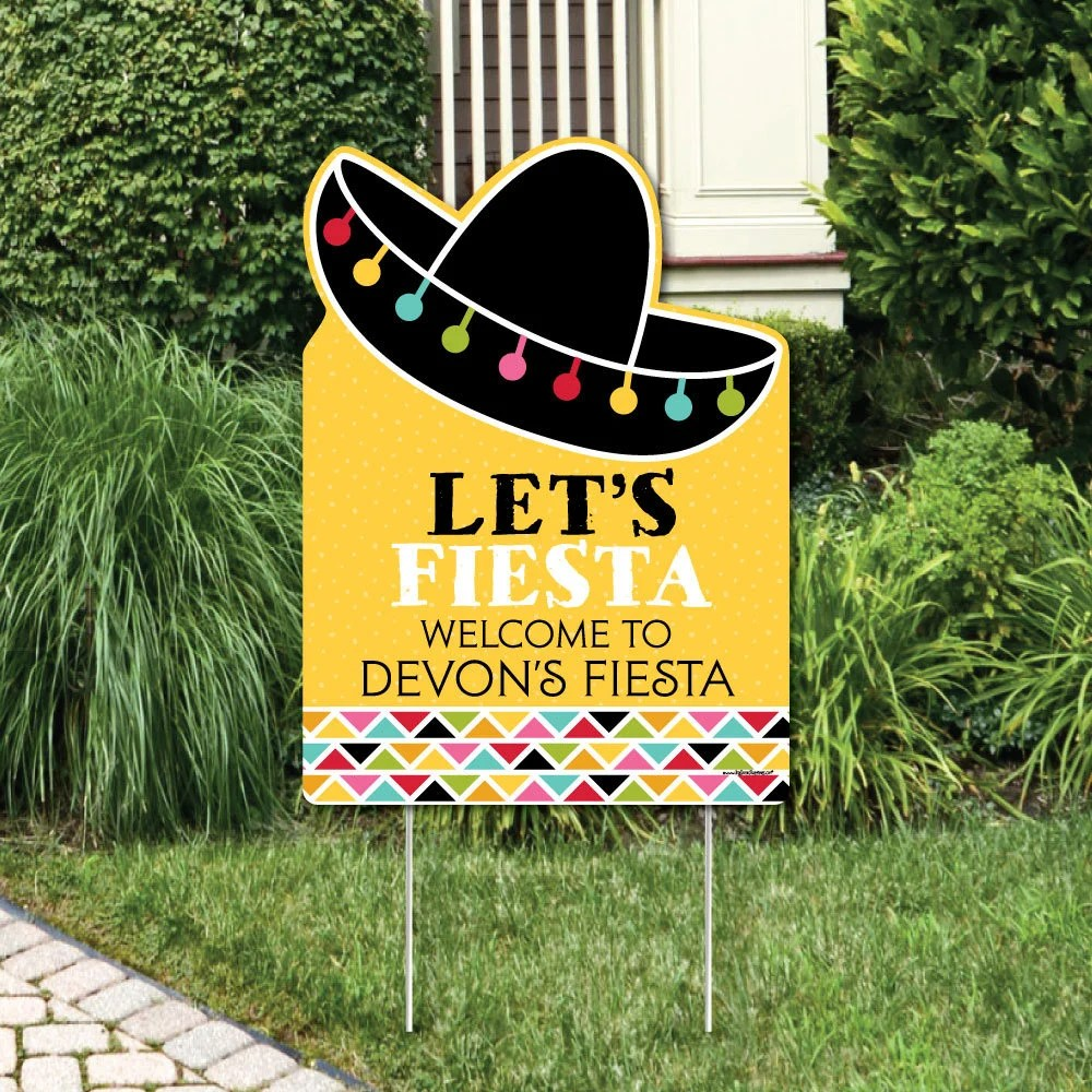 Best Mexican Fiesta Welcome Sign Let S Fiesta Birthday This Month