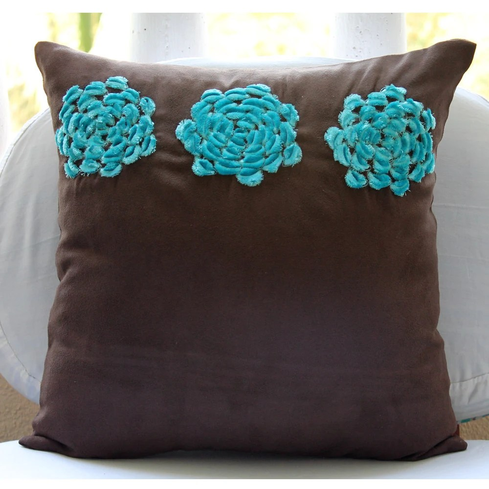 Best Brown Throw Pillows Cover For Couch Square Turquoise This Month