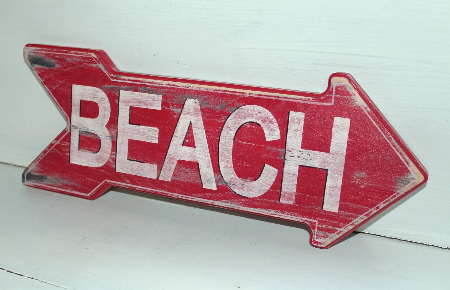 Best Beach Sign Nautical Coastal Decor Distressed Shabby Chic This Month